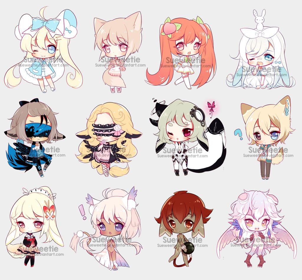 chibbies batch 1 by sueweetie on deviantart