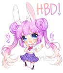 Happy Belated Birthday, PEMIIN !! [SPEEDPAINT] by Sueweetie