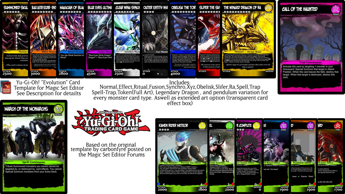 Yu-Gi-Oh \'\'Evolution\'\' Magic Set Editor Template by monyarm on ...