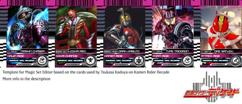 Kamen Rider Decade Magic Set Editor Template by monyarm