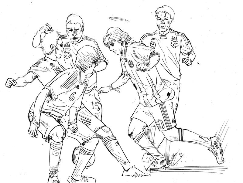 Messi - Free Colouring Pages