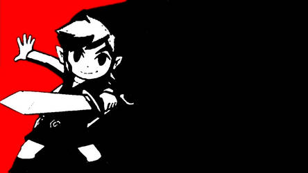 Persona 5-Themed Toon Link Background by Mari-Bro