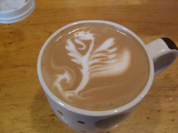 Flying Dragon Latte by MonkDrew