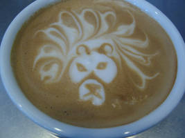 Afro Lion Latte by MonkDrew