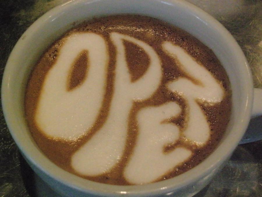 Open Latte by MonkDrew