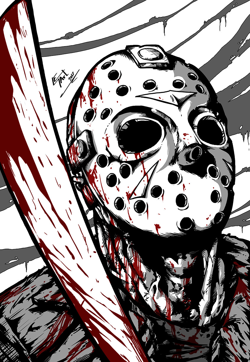 Friday the 13th - Jason by Art-by-Evan on DeviantArt Jason Friday The 13th Drawings