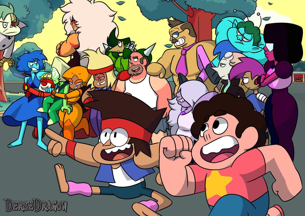 KOUniverse (OK KO and Steven Universe Crossover) by DerseDragon