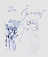 DPK - Waluigi and Wolf by lilavulpes