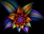 rainbow flower by babymik