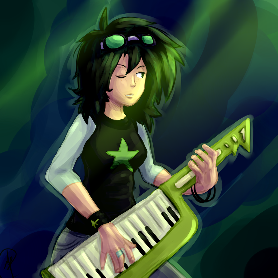 The Green Pop*Rock Star by manic-the-lad