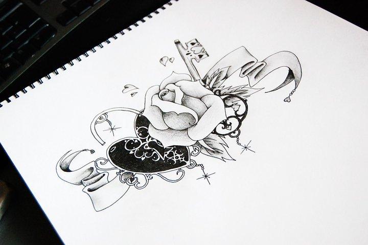 Key To My Heart Tattoo Designs Key to my heart by emapie