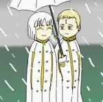 Walking in the rain by Miss-Phantomy