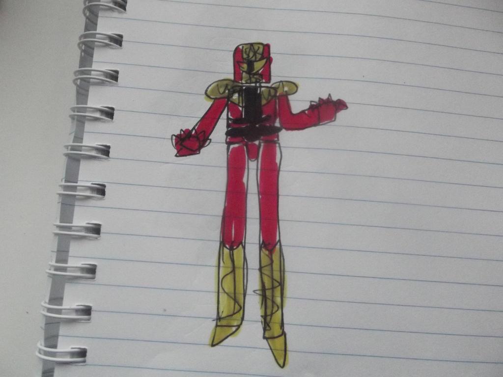 Power rangers metal metal galaxy  Alpha Red ranger by superuk