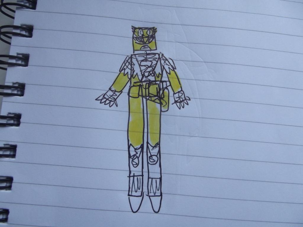 Power rangers air eagles/Yellow ranger by superuk