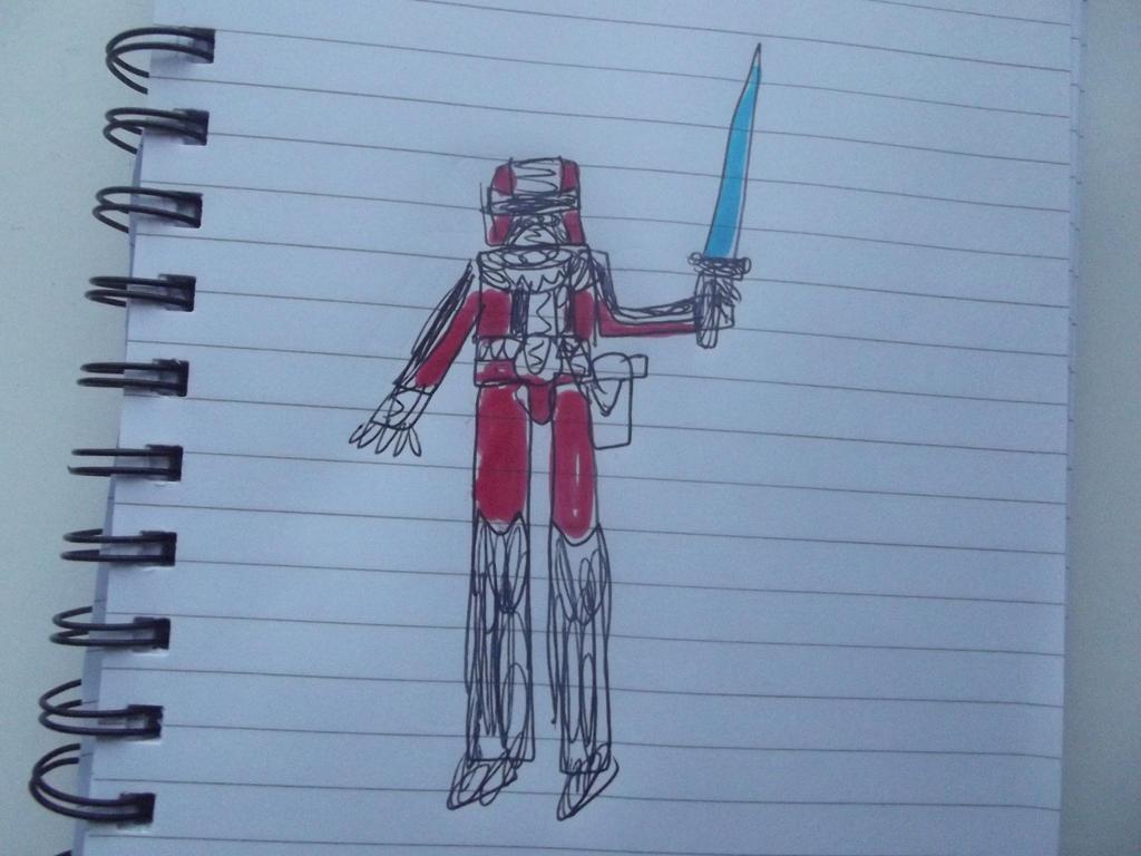 Power rangers space sheriffs Red ranger by superuk
