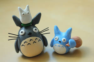 Totoro and Friends, again! by lonelysouthpaw