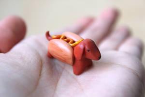Hot Dog Daschund by lonelysouthpaw
