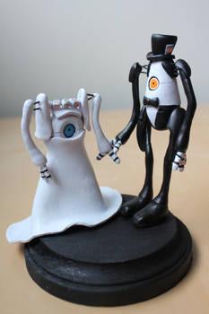 P-body and Atlas [Portal Wedding Topper]
