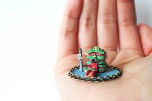 Miniature Japanese Bathhouse by lonelysouthpaw