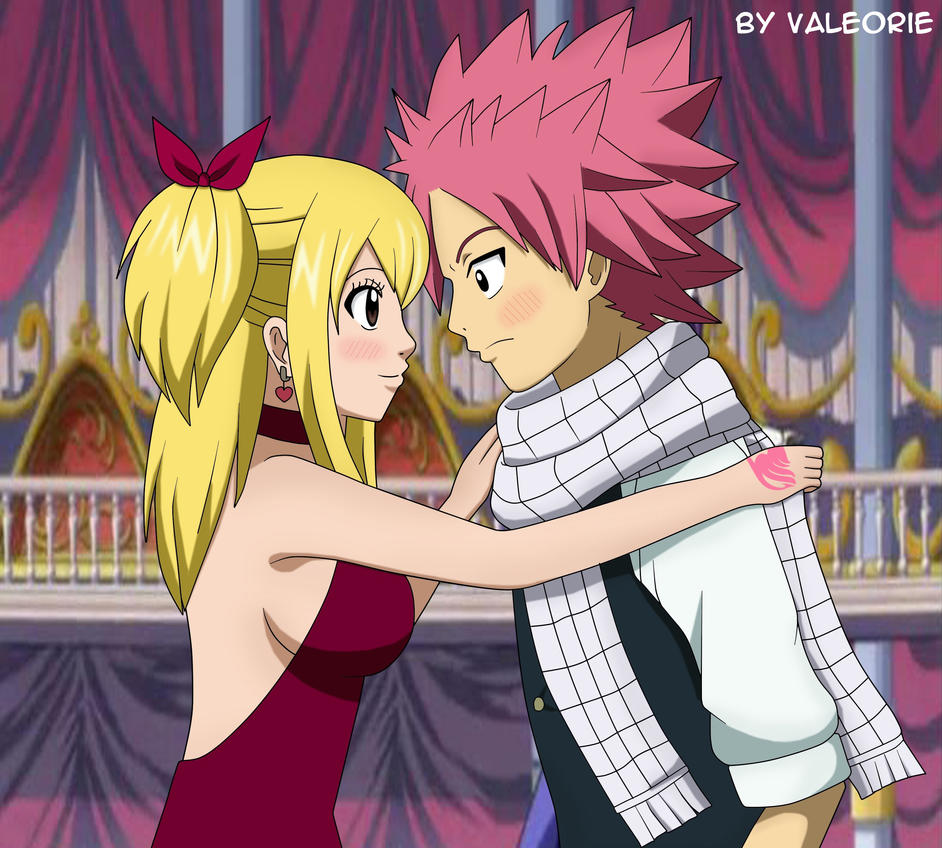Natsu and Lucy in Magic Ball by Valeorie