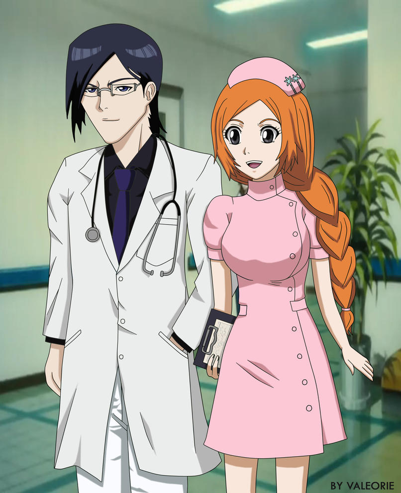 Ishihime: Doctor Ishida  and Nurse Orihime by Valeorie
