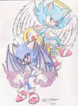Demon and Angel Sonic by Junka-speed