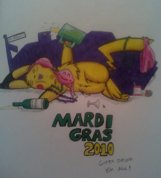 Mardi Gras 2010 -Pikachu by Sea-Salt