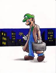 Luigi- There Will be Brawl by Sea-Salt