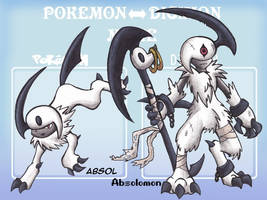 Absol - Pokemon to Digimon meme by Sea-Salt