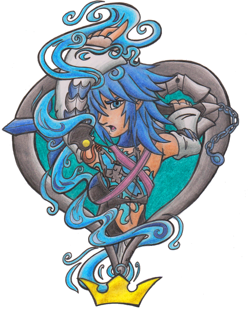 Aqua - pin-up / tattoo design by Sea-Salt