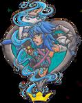 Aqua - pin-up / tattoo design