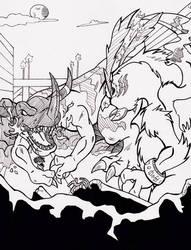 Inktober 2016 - A [Battle] of Digi-Destiny by Sea-Salt