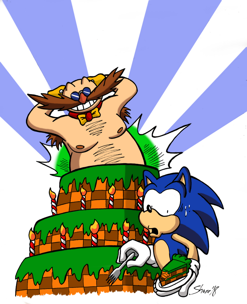Happy 27th, Sonic and Eggman! by Sea-Salt