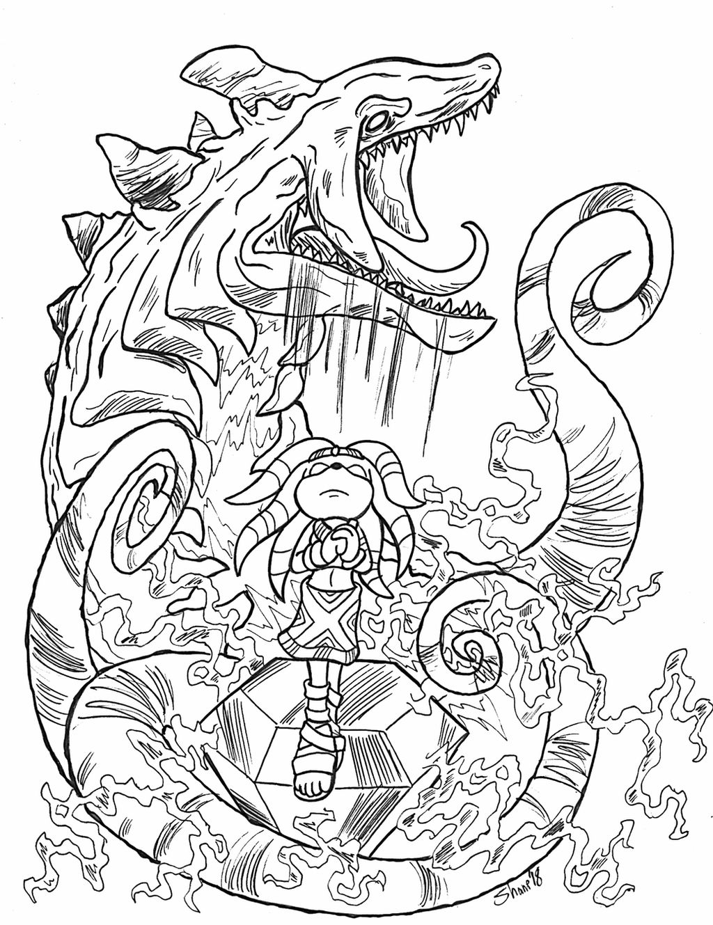 Sonictober - 01 - Chaos by Sea-Salt