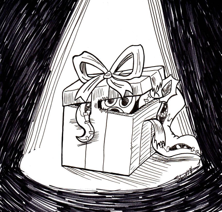 Inktober/Sonictober 2018 - 28 - Gift/Spooky by Sea-Salt