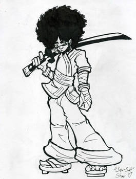 lineart-commission- Afro by Sea-Salt