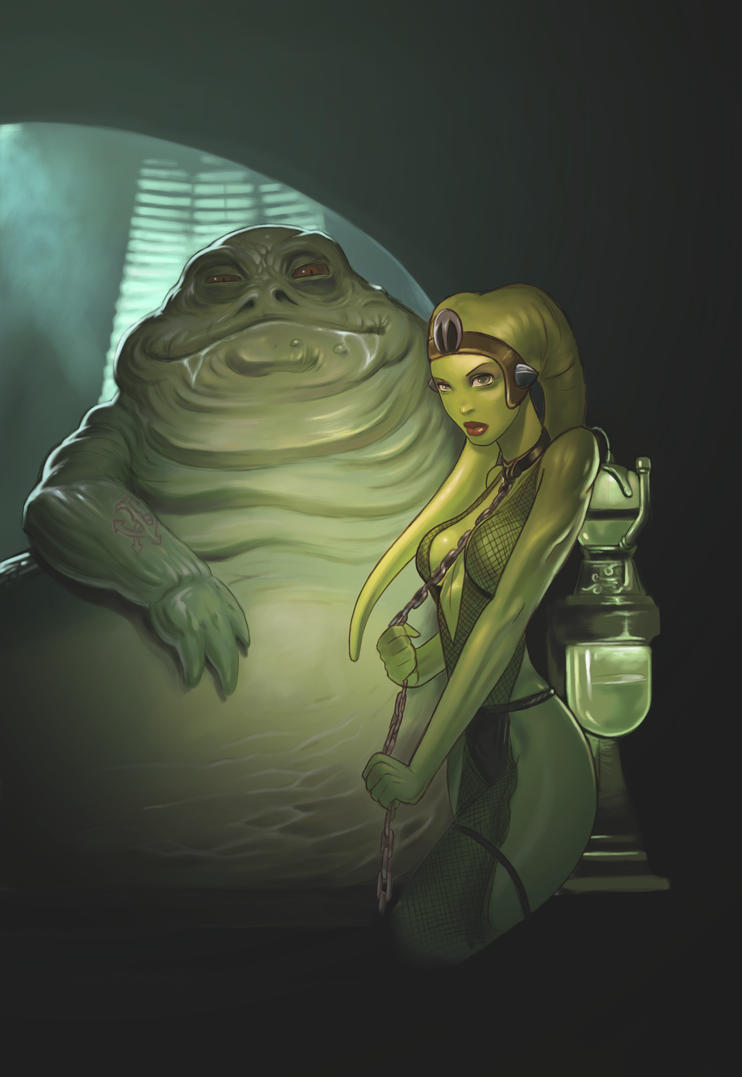 oola and jabba by darthdifaOola And Leia Submit To Jabba