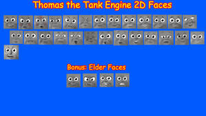 Thomas the Tank Engine 2D Face Pack