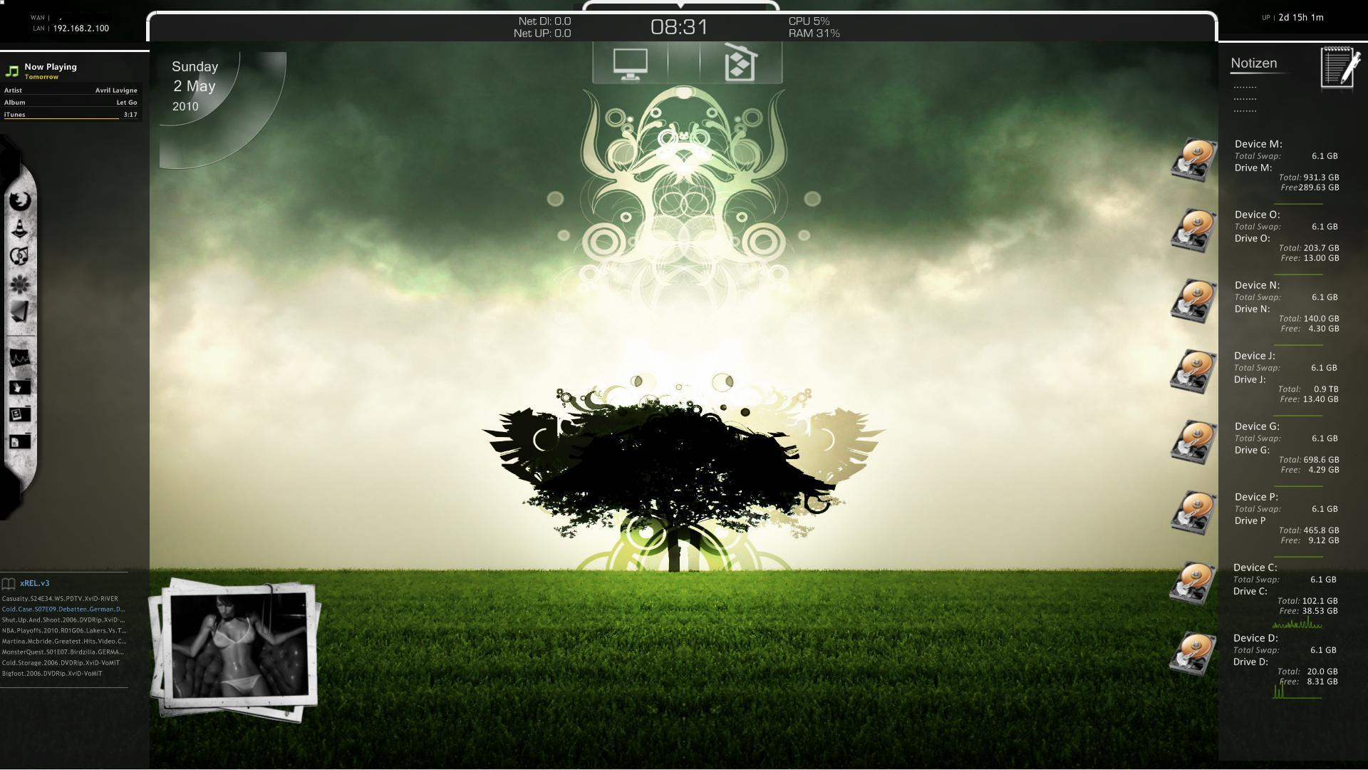 Rainmeter desktop 020510 by foxy889 on deviantart for Deviantart rainmeter