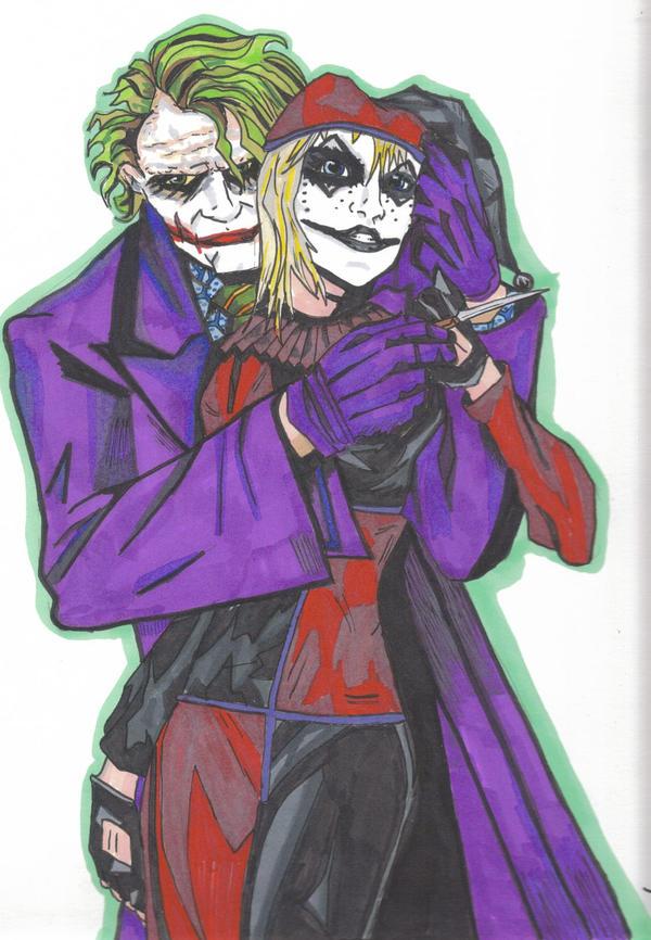 DK joker and harley quinn by undeadtim