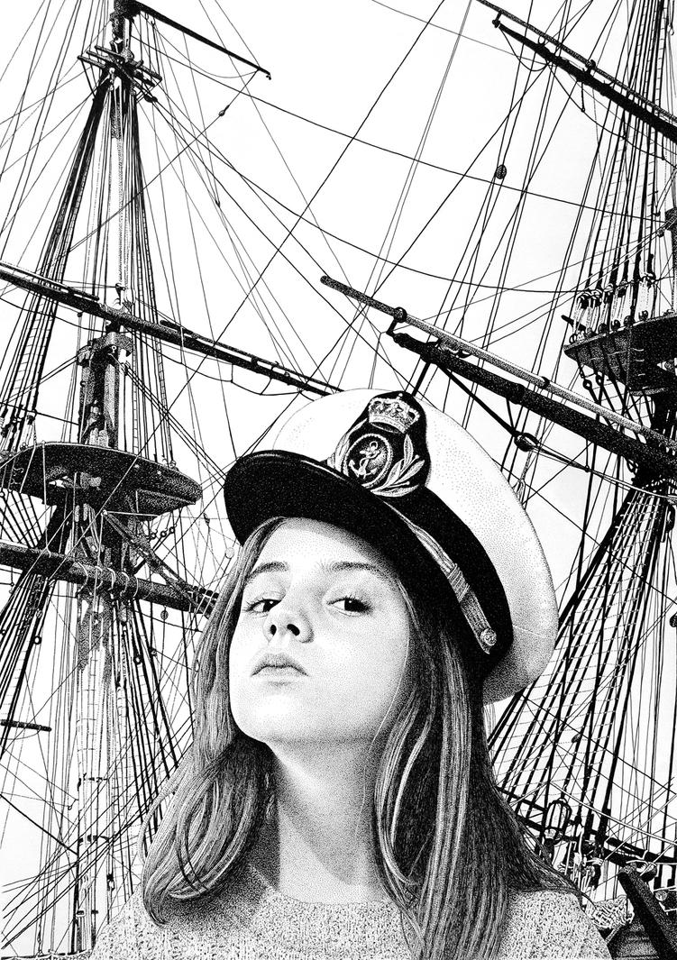 The girl who wanted to sail the world by PabloJuradoRuiz