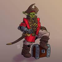 Goblate, the Goblin Pirate Captain