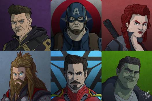Avengers portraits