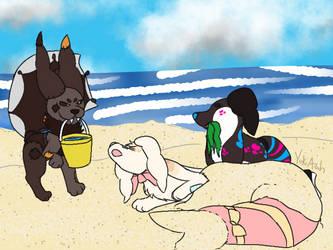 Pillowing Prompt - Beach Trip - Beach Hijinks by NeoTheBaka