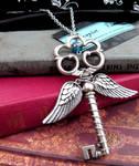 Winged Key Pendant