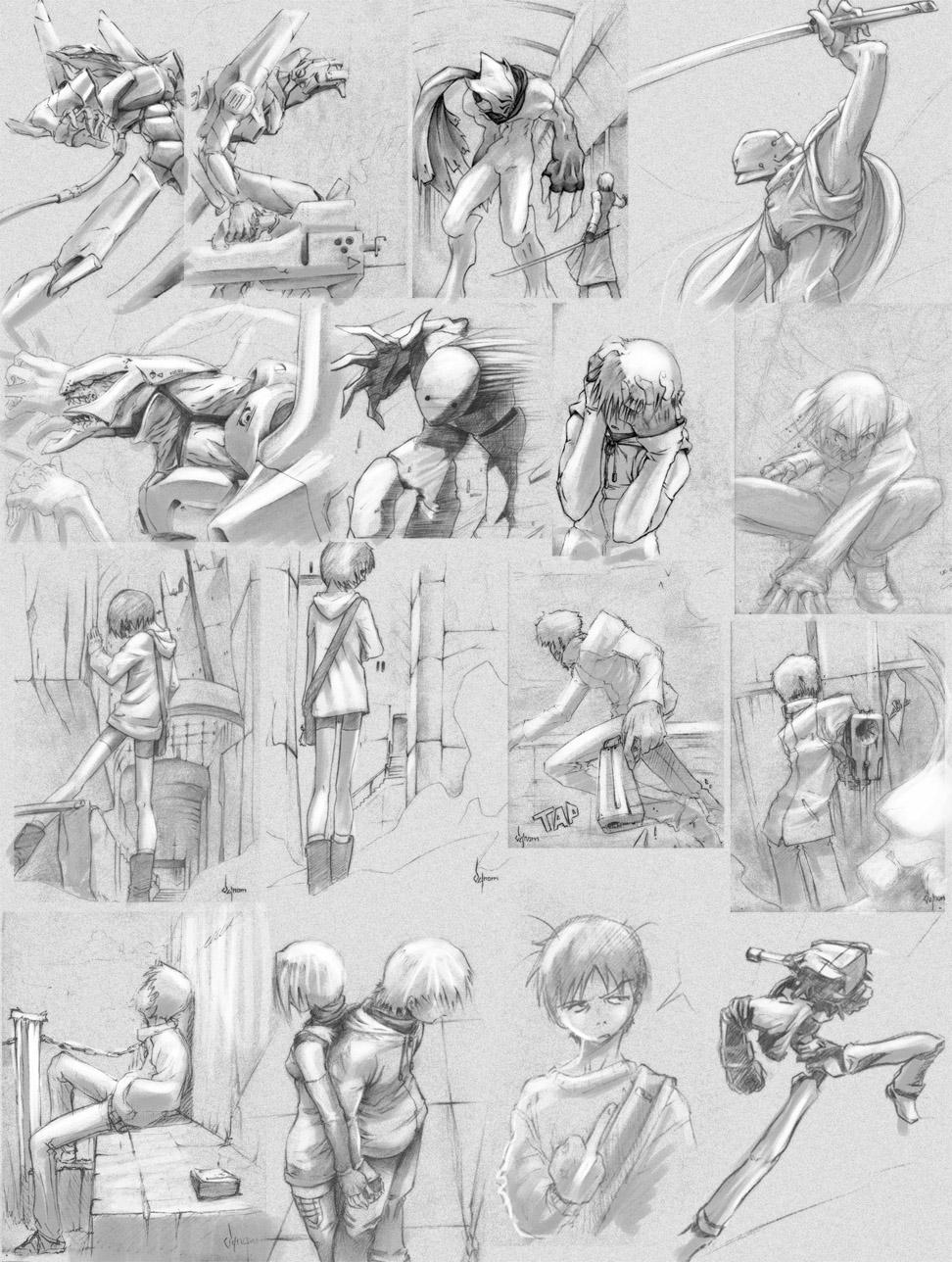Random sketch by V-nom