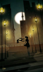 Night town by V-nom