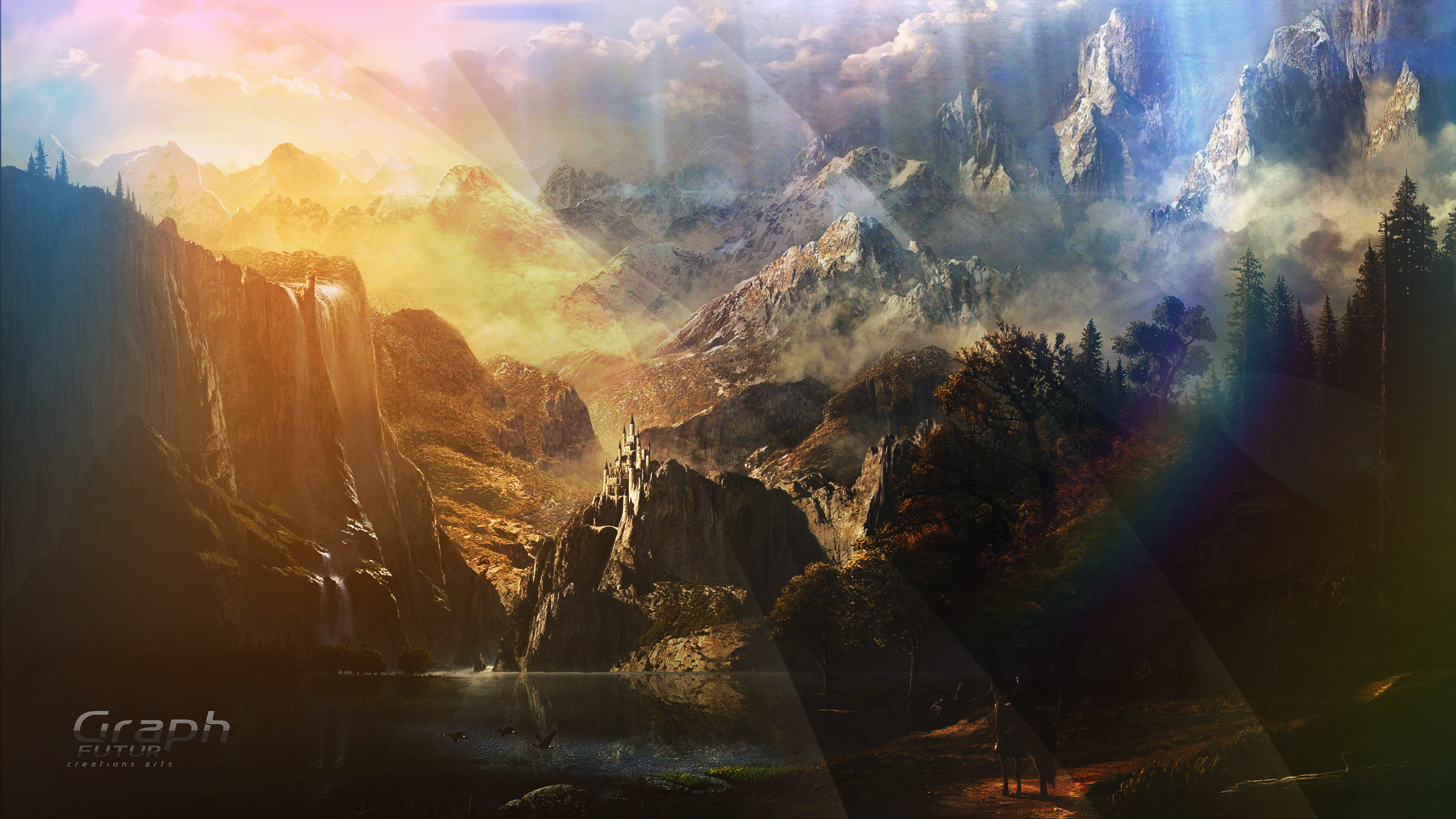 wallpaper fantasy landscape by graphfutur on deviantart
