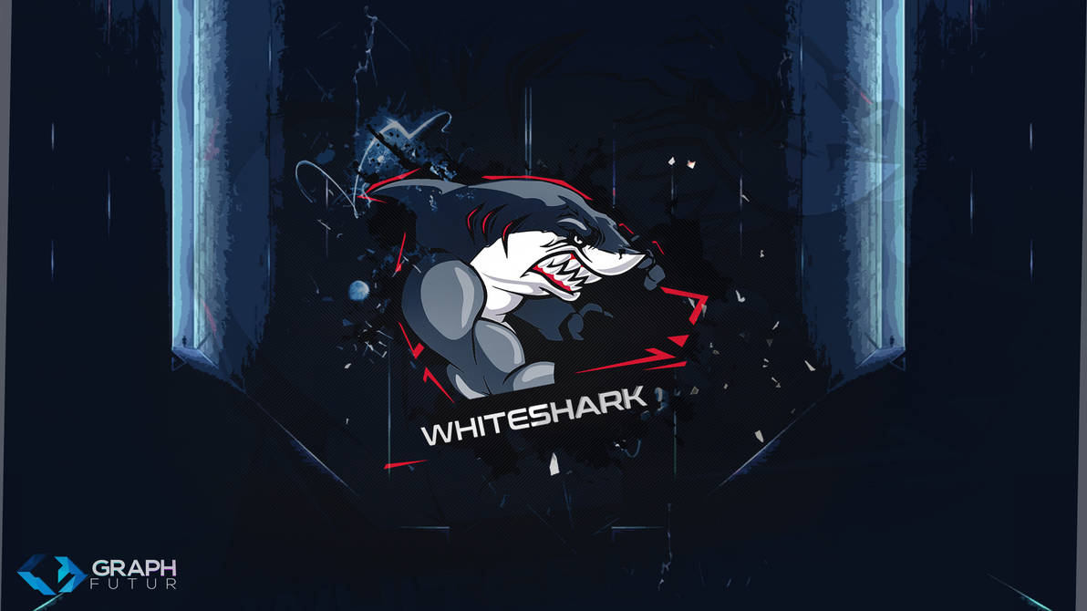 Wallpaper - Design Logo (WhiteShark) by GraphFutur