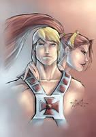 Masters of the Universe - He-Man and Teela II by Killersha